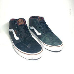 VANS Mens Skate Shoes Black Suede Lace Up Low Top